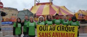 Action cirque sans animaux le 23 mars 2012
