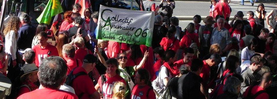 Manifestation Anti-Corrida à Alès