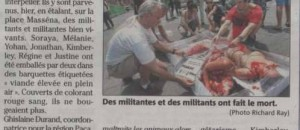 Article nice matin du 16 juin 2013