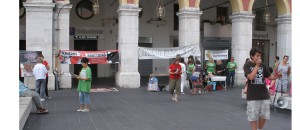 Journée pour la fermeture des abattoirs à Nice, le 14 juin 2014