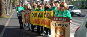 Action Cirque de Venise  «OUI AU CIRQUE SANS ANIMAUX» du mercredi 25 février