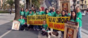 Action Pour un cirque sans animaux  – samedi 28 mars – Cirque Pinder – Les photos