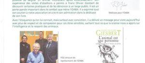 Article sur la rencontre Frantz Olivier Giesbert  du 16 décembre 2014