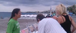 Action du collectif sur la plage Lenval du 15 Août