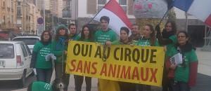 Action POUR UN CIRQUE SANS ANIMAUX samedi 23 janvier 2016