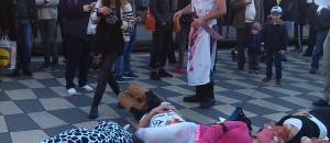 Marche et Happening pour l'abolition de la viande à Nice – 3 janvier – photos et vidéo