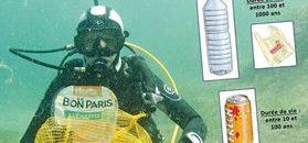 Opération de nettoyage des fonds marins
